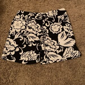 White House Black Market floral shorts w/glitter